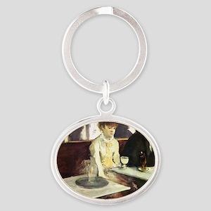 Edgar Degas AbsintheSC Oval Keychain