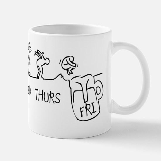 week evolution_black Mug