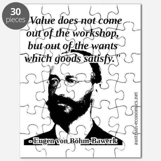 Eugen von Bohm Bawerk - Value Puzzle