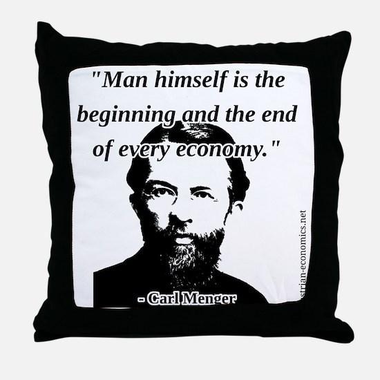 Carl Menger - The Economy Throw Pillow