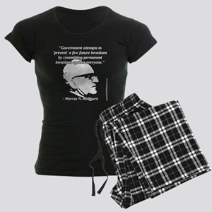 Murray N. Rothbard - Governm Women's Dark Pajamas