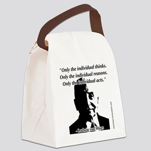 Ludwig von Mises - The Individual Canvas Lunch Bag