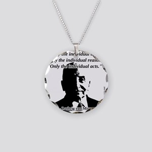 Ludwig von Mises - The Indiv Necklace Circle Charm