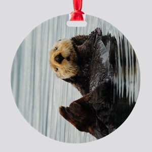 TabletSleeve_seaotter_2 Round Ornament