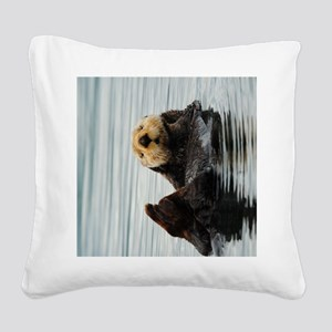 TabletSleeve_seaotter_2 Square Canvas Pillow