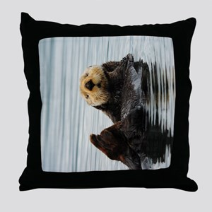 TabletSleeve_seaotter_2 Throw Pillow