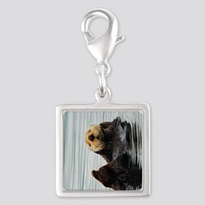 TabletSleeve_seaotter_2 Silver Square Charm