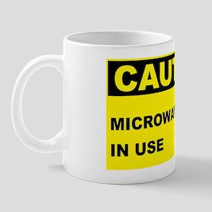 Caution-MICROWAVE-IN-USE Mug