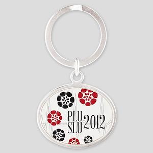 PLU SLU 2012 Pan flowers Oval Keychain