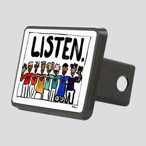 Listen Rectangular Hitch Cover