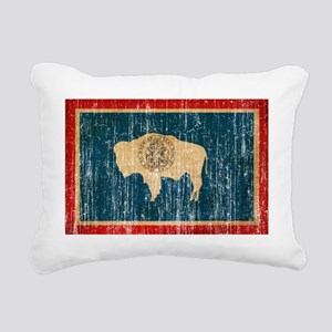 Wyoming textured aged co Rectangular Canvas Pillow