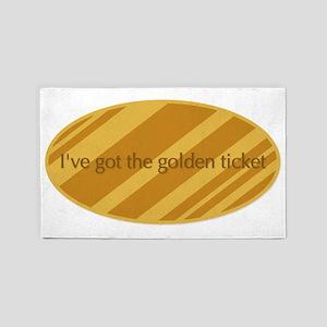 The Golden Ticket 3'x5' Area Rug
