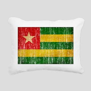 Togo textured aged copy Rectangular Canvas Pillow