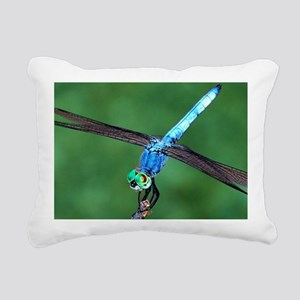 Beautiful Blue Dragonfly Rectangular Canvas Pillow