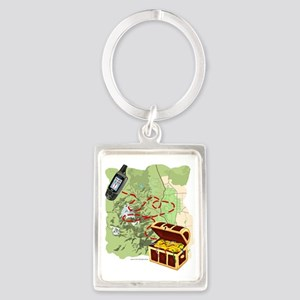 Geocache to Treasure Portrait Keychain