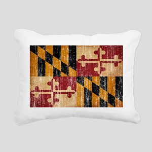 Maryland textured aged c Rectangular Canvas Pillow