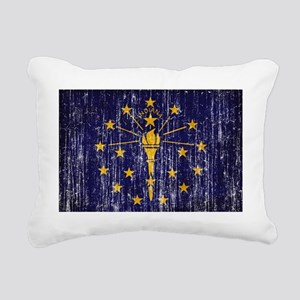 Indiana textured aged co Rectangular Canvas Pillow