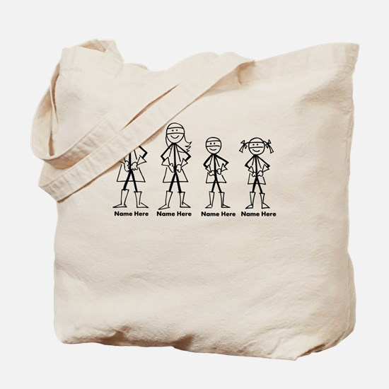 Personalized Super Family Tote Bag