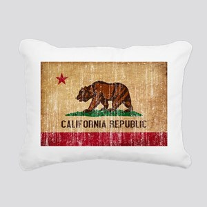 California textured aged Rectangular Canvas Pillow