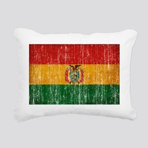 Bolivia textured aged co Rectangular Canvas Pillow