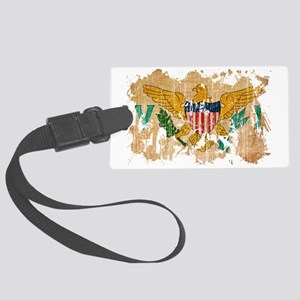 Virgin Islands textured splatter Large Luggage Tag