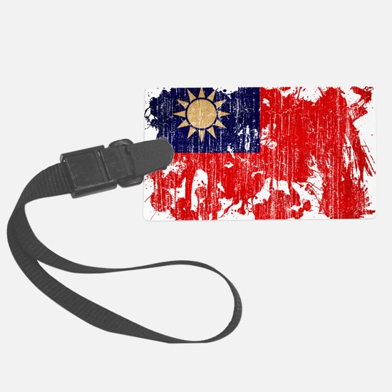 Taiwan textured splatter aged co Luggage Tag
