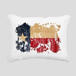 Texas textured splatter  Rectangular Canvas Pillow