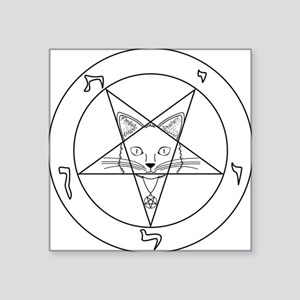 "Hail Kitten Square Sticker 3"" x 3"""