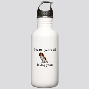 70 birthday dog years springer spaniel Water Bottl