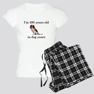 70 birthday dog years springer spaniel Pajamas