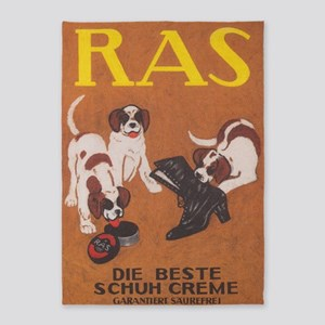 Dogs, Shoe Polish, Vintage Poster 5'x7'are