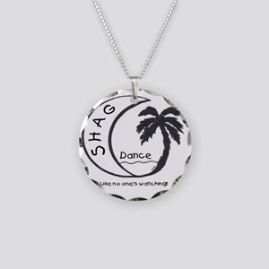 Shag Dance Necklace Circle Charm