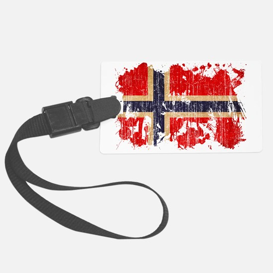 Norway textured splatter aged co Luggage Tag