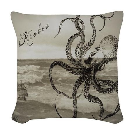 The Kraken Woven Throw Pillow