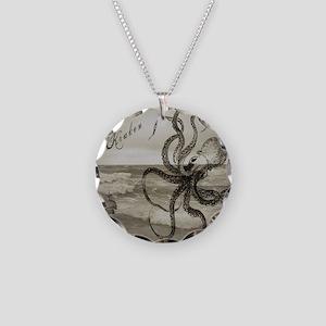 The Kraken Necklace Circle Charm