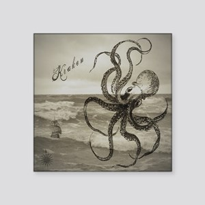 "The Kraken Square Sticker 3"" x 3"""
