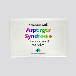 """Asperger Syndrome Pride"" Rectangle Magnet"