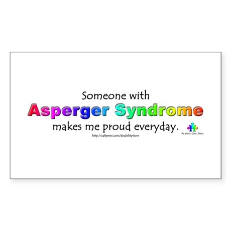 """Asperger Syndrome Pride"" Rectangle Sticker"