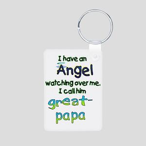 I HAVE AN ANGELGREAT PAPA Aluminum Photo Keychain