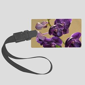 Purple Vanda Large Luggage Tag