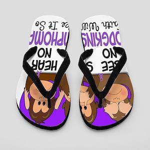 See Speak Hear No Hodgkins Lymphoma 1 Flip Flops