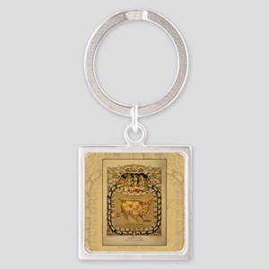 THIS PORCINEOGRAPHSC1 Square Keychain