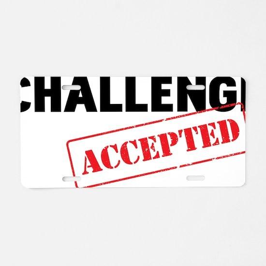 CHALLENGE Aluminum License Plate