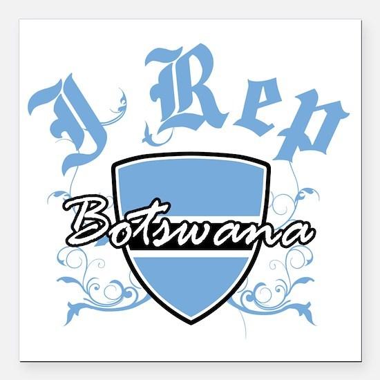 "botswana Square Car Magnet 3"" x 3"""