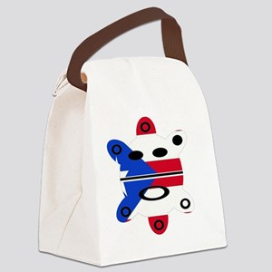 Taino Sun & Puertorican Flag Canvas Lunch Bag