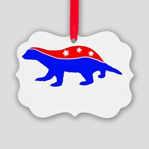 Honey Badger Party Picture Ornament