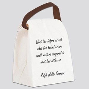 what lies within Canvas Lunch Bag