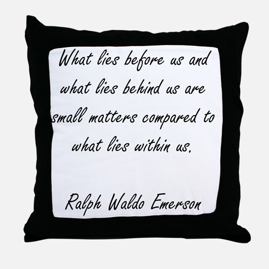 what lies within Throw Pillow
