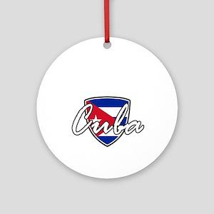 cuba3 Round Ornament