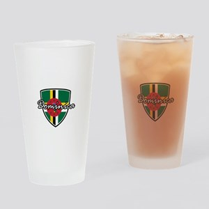 dominica2 Drinking Glass